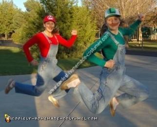 Homemade Mario and Luigi Costumes