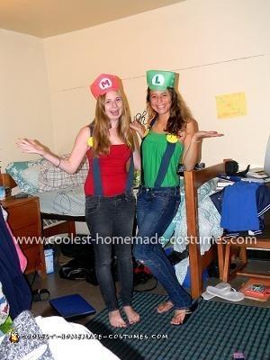 Homemade Mario Brothers Couple Costume